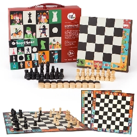 Chess & polish draughts 2 in 1 set – the nutcracker war