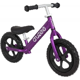 Cruzee bike - purple with black wheels
