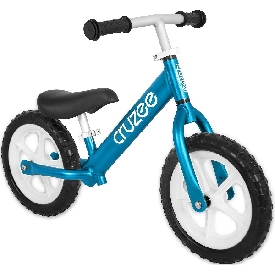 Cruzee bike - blue  with white wheels