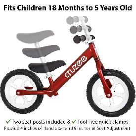 จักรยานขาไถครูซซี่สีแดง+ล้อสีขาว