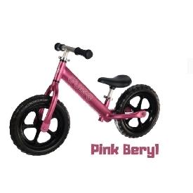 จักรยานขาไถครูซซี่ 2021 สีชมพูเบอร์รี่+ล้อดำ