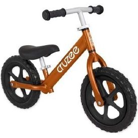 Cruzee Bike - Garnet Orange with Black Wheels