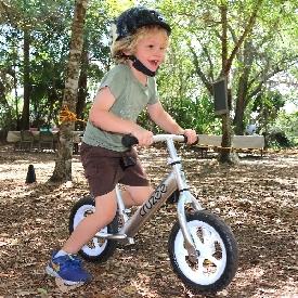 จักรยานขาไถครูซซี่สีเทา + ล้อขาว