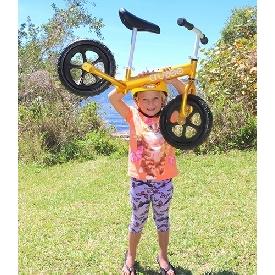 Cruzee bike - yellow sapphire with black wheels
