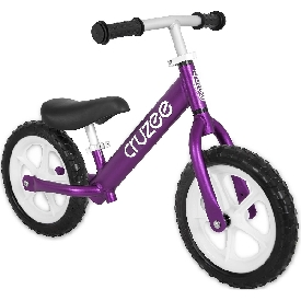 Cruzee bike - purple with white wheels