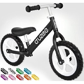 Cruzee bike - black with white wheels