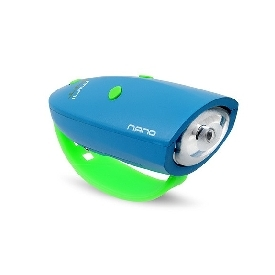 Mini Hornit Nano Bike horn and Light - Blue/Green