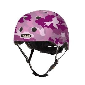 หมวกกันน็อก 46-52 cm สีชมพูทหาร