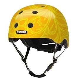 หมวกกันน็อก 46-52 cm ลายดอกไม้สีเหลือง