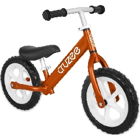 Cruzee bike - garnet orange with white wheels