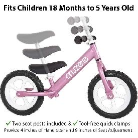 Cruzee bike - pink with white wheels