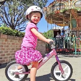 จักรยานขาไถครูซซี่สีชมพู+ล้อขาว