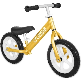 Cruzee bike - yellow sapphire with white wheels