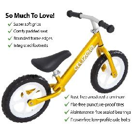 Cruzee bike - yellow sapphire with white wheels