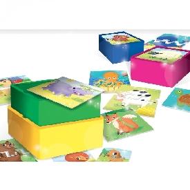 เกมต่อจิ๊กซอว์เสริมทักษะสำหรับเด็กเล็กพร้อมชั้นวาง