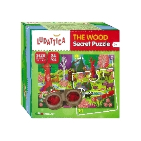 Ludattica secret puzzle 24 pcs the wood