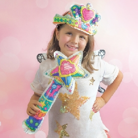 3d colorables - dress up wand & tiara