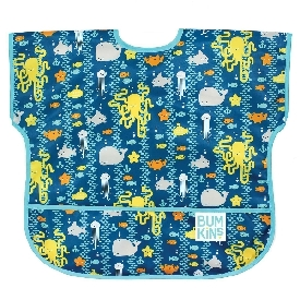 ผ้ากันเปื้อนกันน้ำ แขนสั้น สำหรับ 1-3 ขวบ