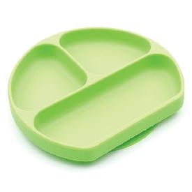 Bumkins silicone grip dish - green