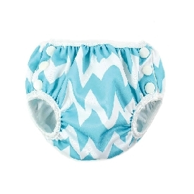 Swim diapers Size S - Blue Chevron