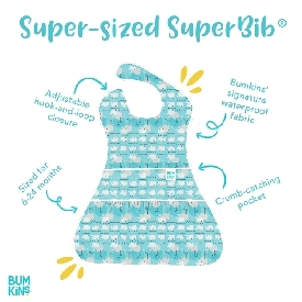 Bumkins supersized superbib - whales