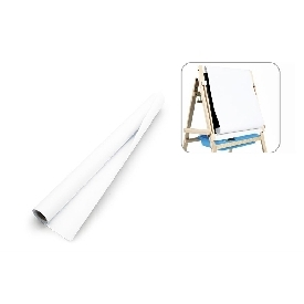 Paper roll refill for adjustable 2 sided easel