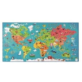 PUZZLE WORLD MAP 150pcs