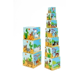 Stacking tower animals world
