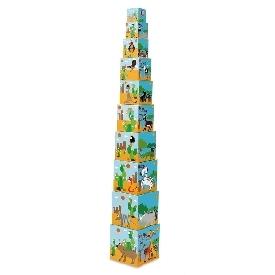 Stacking tower animals world