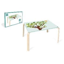 โต๊ะไม้คุณหนู ลายนกฮูก