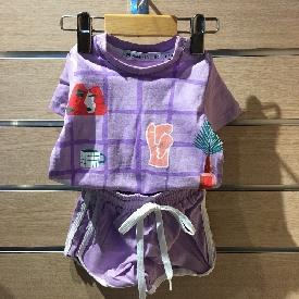 ชุดเสื้อยืด/กางเกงขาสั้น little things purple