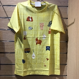 Adult t shirt -  little things yellow