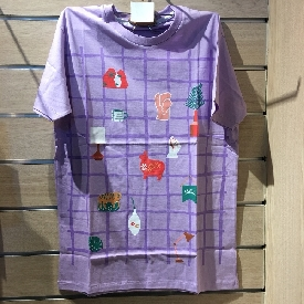 Adult t shirt -  little things purple