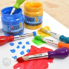 พู่กันระบายสี สำหรับเด็ก
