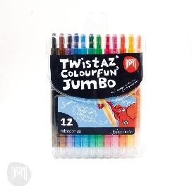 Twistaz jumbo crayons wallet 12 micador