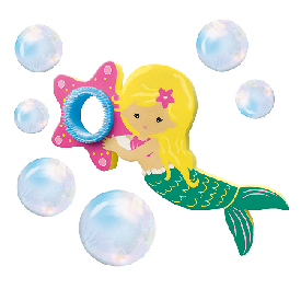 Mermaid bubble blower in bath