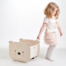รถลากของเล่นหมีน้อย