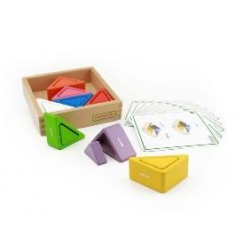 Block n' cups - triangle