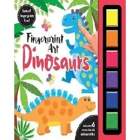 Finger print art dinosaurs