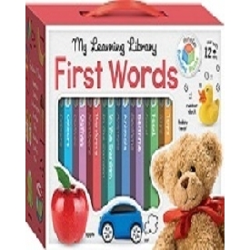 Building blocks learning library 8 board book set - words