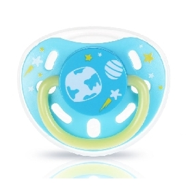 Glow-in-the-dark pacifier (s size nipple) aquamarine
