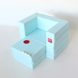 Cake sofa - สีฟ้า