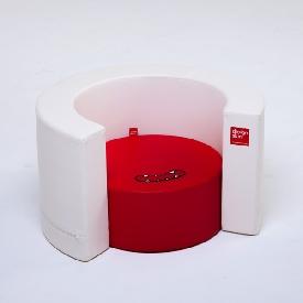 Tunnel sofa - สีแดง-ขาว
