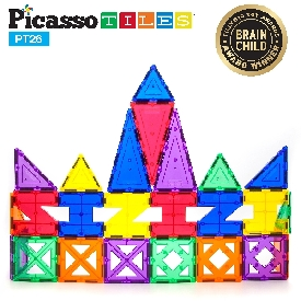 Picasso tiles - 26 pieces: 3-d designer artistry kit
