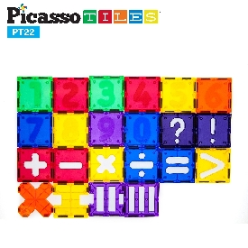 Picasso Tiles - 22 Piece Numerical Set