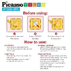 Picasso tiles ต่อแม่เหล็กสีแบบใส ชุด led