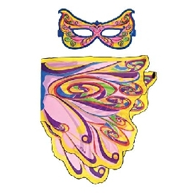 Dreamy dress-ups mask + wings, fairy rainbow