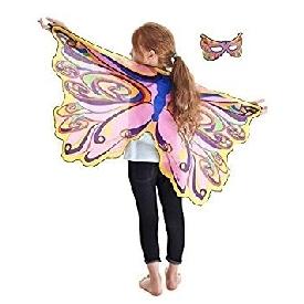 Dreamy dress-ups mask + wings, fairy rainbow