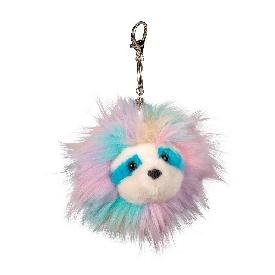 Rainbow sloth pom clip