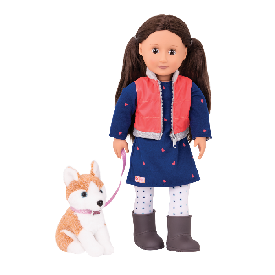Doll with Pet Dog - Leslie